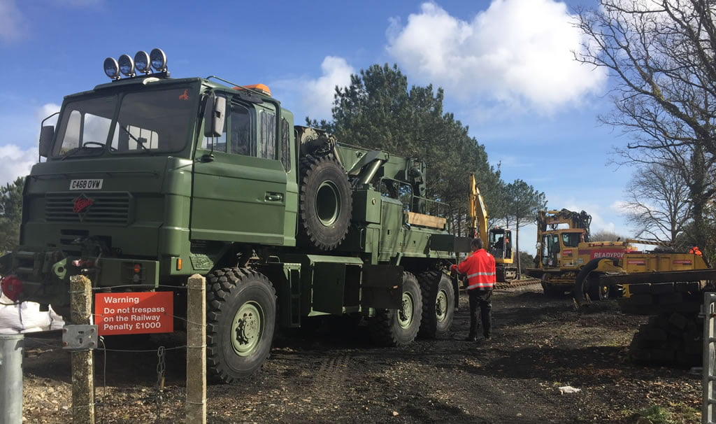 Foden 6x6 heavy recovery winching vehicle